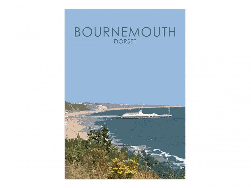 Bournemouth Pier Poster Print
