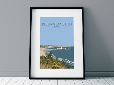 Bournemouth Pier Poster Print