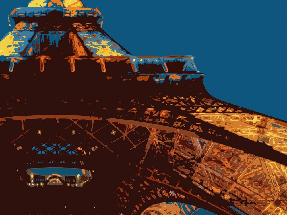 Eiffel Tower Poster Print