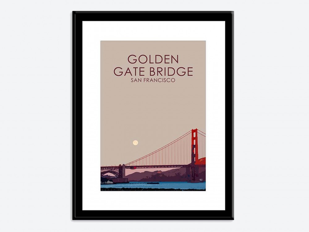 Golden Gate Bridge Poster Print