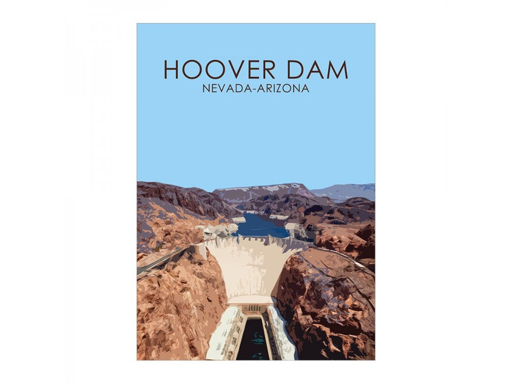 Hoover Dam Poster Print