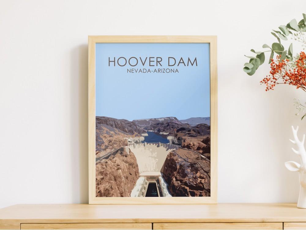 Hoover Dam Poster Print