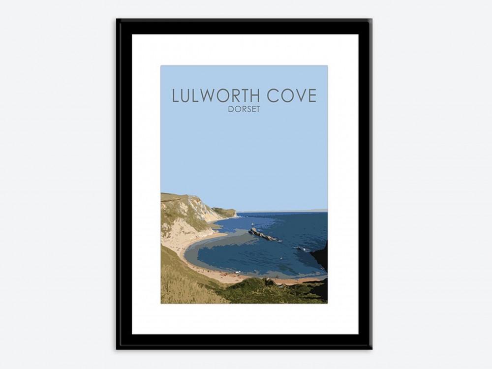 Lulworth Cove Poster Print