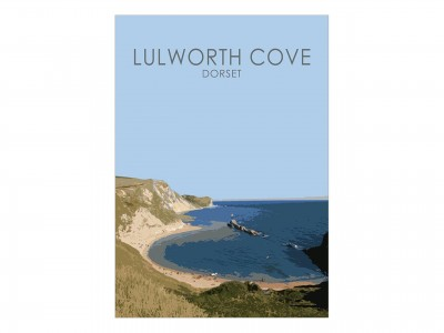 Lulworth Cove Poster Print