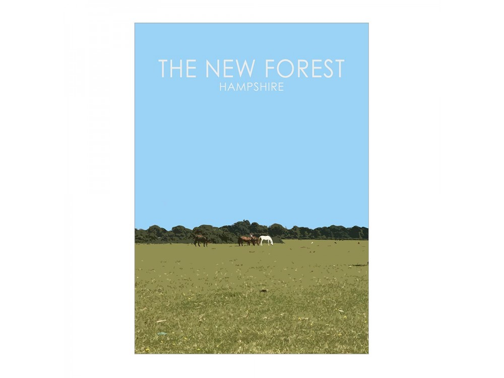 The New Forest Poster Print