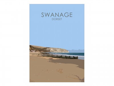 Swanage Bay Poster Print