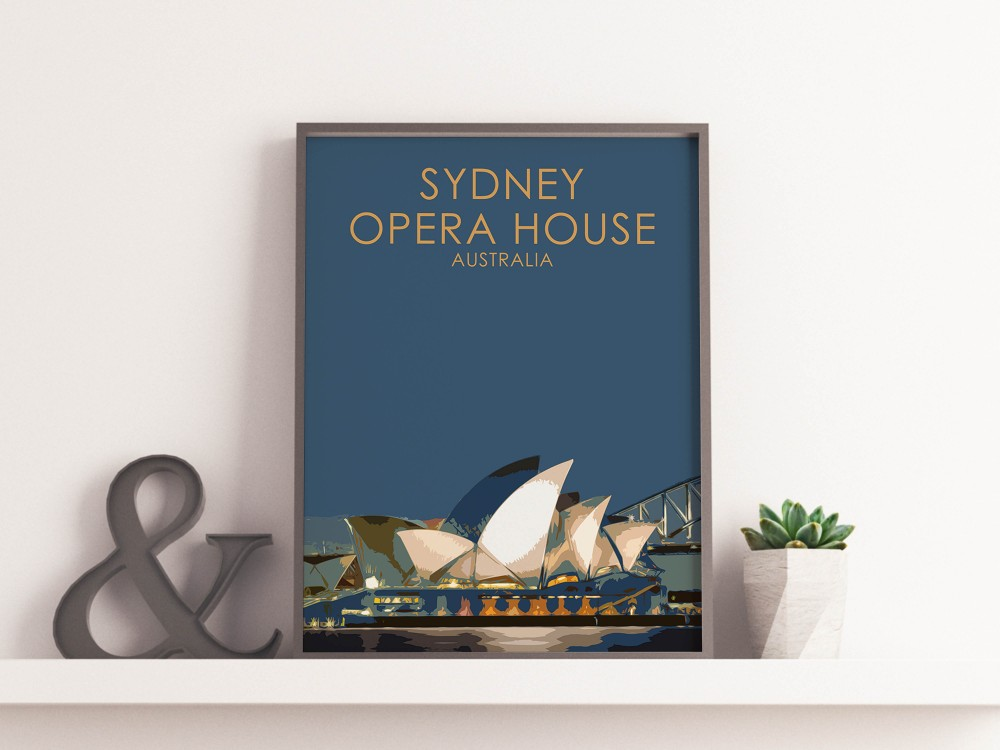 Sydney Opera House Poster Print