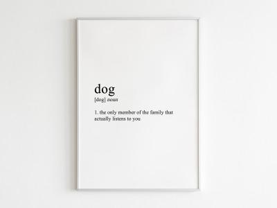 Dog Poster Print