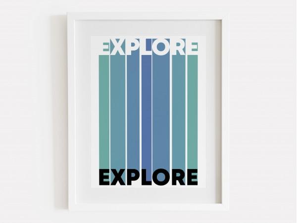 Explore Print - Ocean