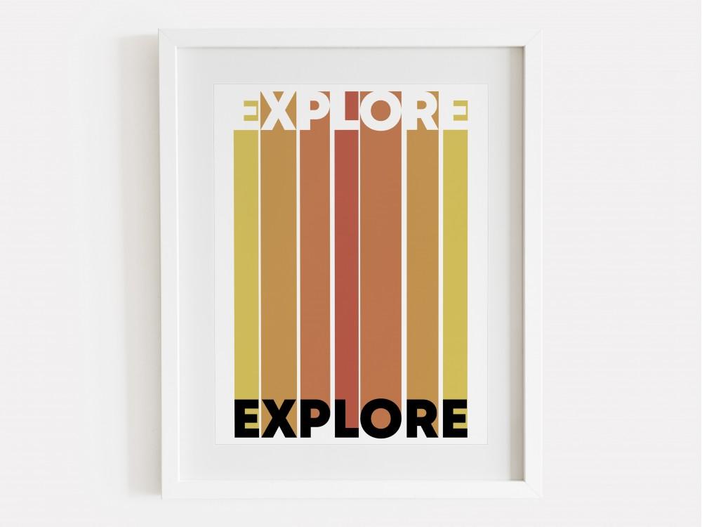 Explore Print - Sunset