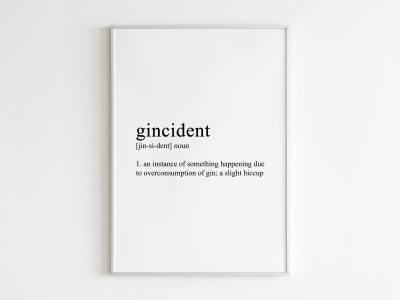 Gincident Poster Print