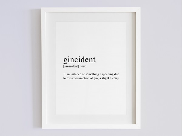 Gincident Definition Print