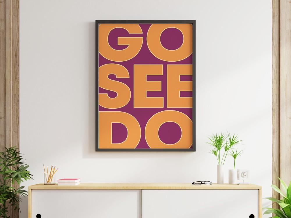 Go See Do Print - Tropical