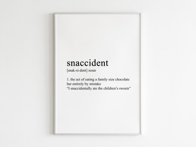 Snaccident Poster Print