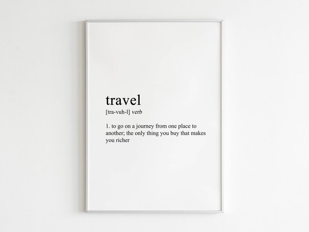 Travel Definition Print
