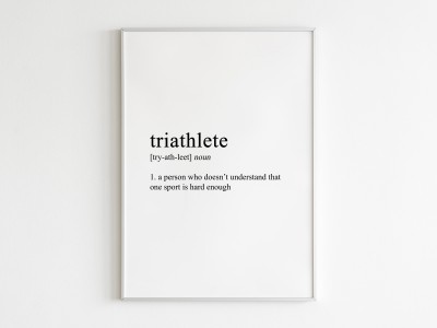 Triathlete Poster Print