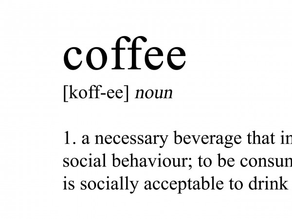 Coffee Definition Print