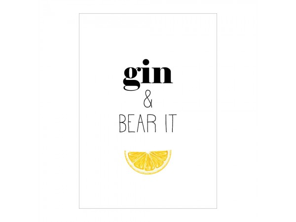Gin and Bear It Print