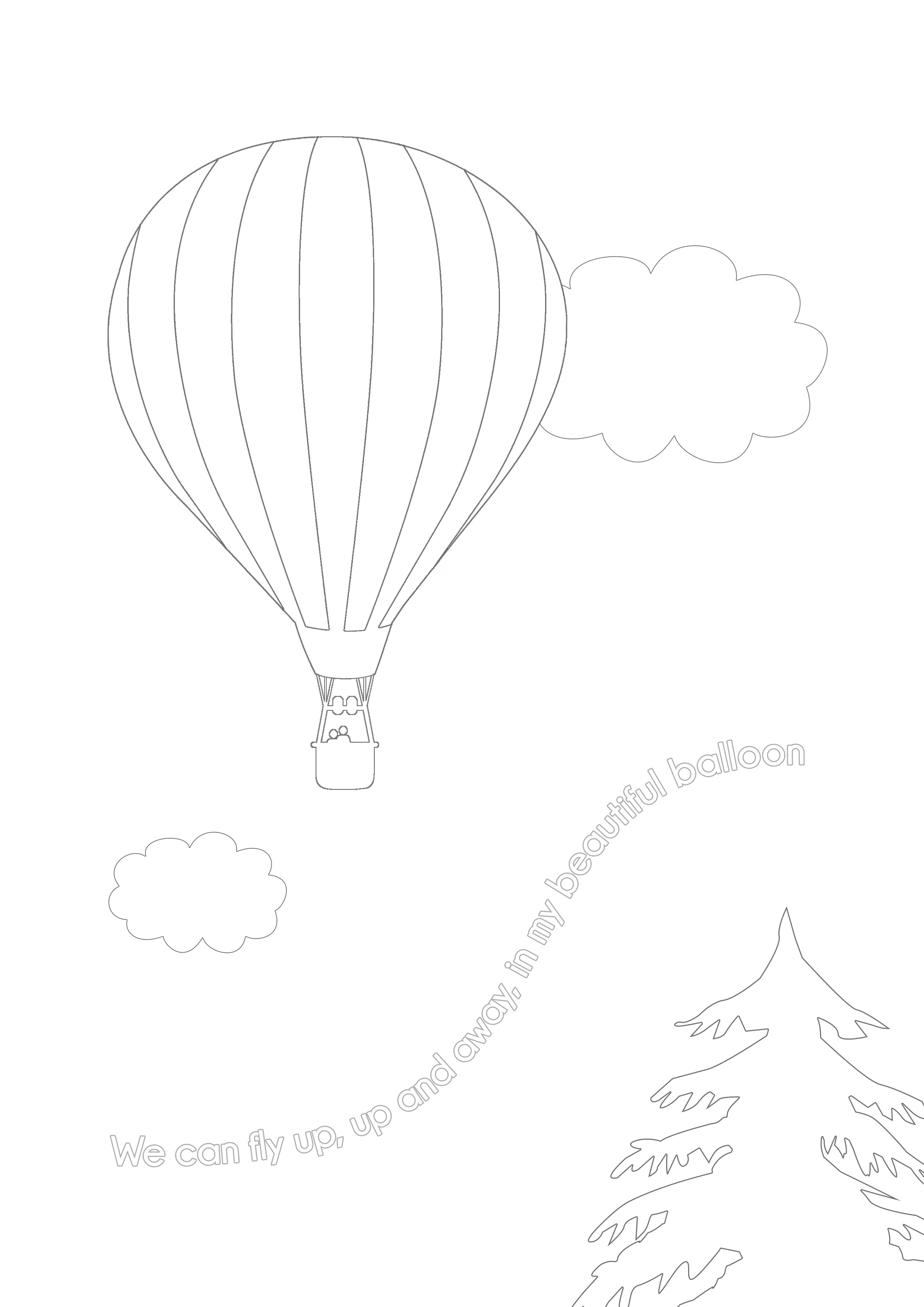 Up and Away Colouring